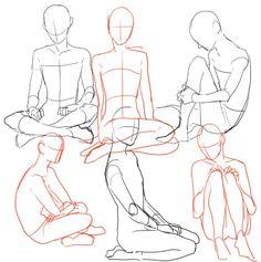 sitting poses - Cerca con Google