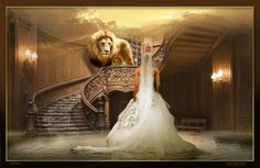 As the great King descends from the heavens in this magnificent room... The King is close enough to His beloved bride that she can feel the warmth of His breath. He is here in the room: the moment they have both longed for through eternity has come.