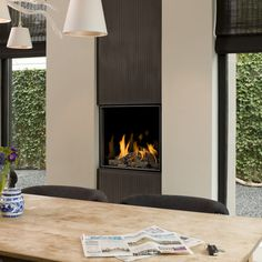 Gas fireplace / contemporary / closed hearth / built-in ORIGINAL BELL: TOPSHAM 3 Bellfires