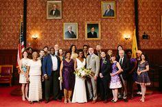 Cambridge city hall wedding photography, portrait of all wedding guests Bridge Restaurant, City Hall Wedding, Bridesmaid Dresses, Wedding Dresses, Alternative Wedding, Elopements, Cambridge, New England, Sheep