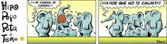 Genial viñeta de Ramón en @el_pais sobre el asunto del #Rey y los #elefantes