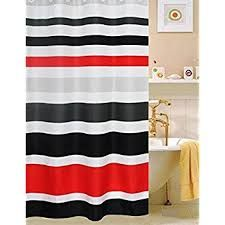 Image Result For Red And Black Shower Curtain