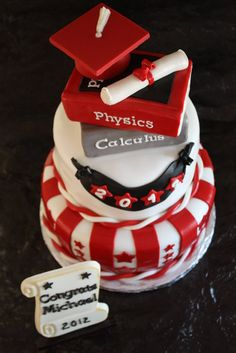 high+school+graduation+decorations+diy | High School Graduation Cake - by Pam and Nina's Crafty Cakes ...