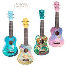 Aurora Ukuleles from Luna Guitars ... The mermaid one <3
