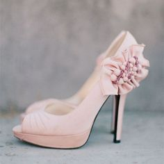 Women's Wedding Shoes Winter Fashion Light Pink Peep Toe Lace Flora Stiletto Heels Wedding Shoes Peep Toe Ruffles Cute Pumps For Bridesmaid For Wedding Christmas Outfit Women Cute Outfits For Holiday Party New Year Holiday Party Shoes| FSJ