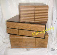 WOOD CD Jewel Case DRAWER Storage Organizer BOXES [MsFrugaLady on eBay listing ends 3 & SPINNER Media TOWER for CD JEWEL CASES u0026 Audio CASSu2026   MEDIA ...