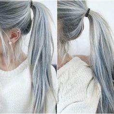Gray Hair & Piercing
