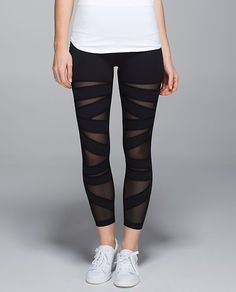 Am I crazy or are these cute?! >> Lululemon High Times Pant*Tech Mesh