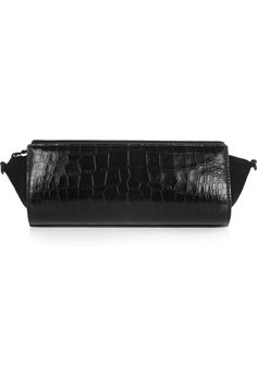 Alexander Wang | Pelican croc-effect leather and neoprene clutch