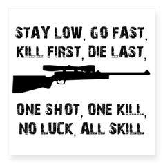 No Luck All Skill Sticker on CafePress.com