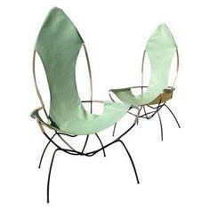 Tony Paul Sling Chairs - A Pair