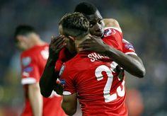 Swiss Football Team ⚽ Xherdan Shaqiri and Breel Embolo ♡.