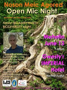 Open Mic Nights  June 2013  With POETRY from Robert Minhinnick and MUSIC from Chris Hastings & Huw Pudner, plus others.