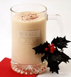 Holly Nog Ingredients  6 Tbsp. Sue Bee Honey  2 egg beater portion cups  1 qt. half & half  1 1/2 tsp. nutmeg  1/2 tsp. rum flavoring  5-6 drops yellow food coloring