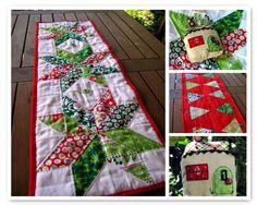Mosaic Christmas Table Runner