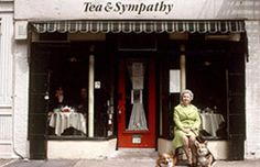 Tea and Sympathy. 108 Greenwich Ave. Next to A Salt and Battery. Across the street from Mxyplyzyk.