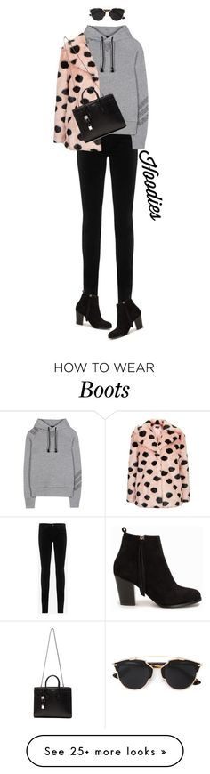 """""""Dress It Up '"""" by dianefantasy on Polyvore featuring AG Adriano Goldschmied, Y-3, Topshop, Nly Shoes, Yves Saint Laurent, Christian Dior, women's clothing, women's fashion, women and female"""