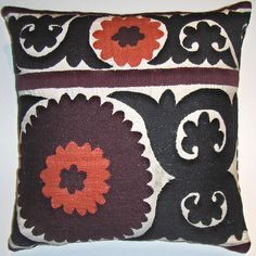 suzani pillow for our bedroom.  $50.00