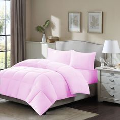 5 Pc 18''Pkt 1500 Tc Quilted Oly.Queen M.Rose Egyptian Cotton Duvet Cover Set