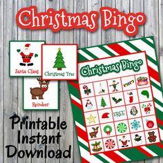 Christmas BINGO printable game   Christmas   Christmas bingo, Christmas bingo printable ...