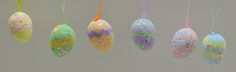 Cute zig zag decorated Easter Egg Ornaments
