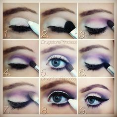 Purple eye make-up.  Perfect for green eyes.