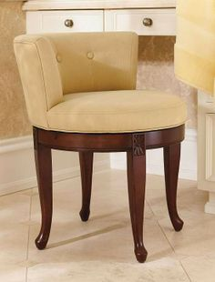 Conduct your daily beauty routine in the comfort of our low-back Isabella Vanity Stool.