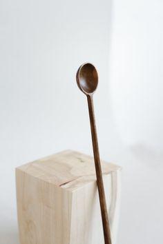 Walnut coffee spoon Long handle wooden spoon Tea coffee long