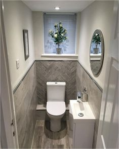 splendid small toilet design ideas for small space in your home 1 Toilet Room Decor, Small Toilet Room, Small Toilet Decor, Guest Toilet, Bathroom Design Small, Bathroom Interior Design, Modern Bathroom, Small Toilet Design, Boho Bathroom