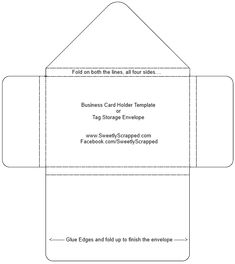 Picture Envelope Templates, Printable Templates, Free Printables, Small Envelopes, Handmade Envelopes, Paper Patterns, Pattern Paper, Business Card Holders, Business Cards