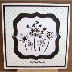 Black Assorted Flowers Outline Stickers
