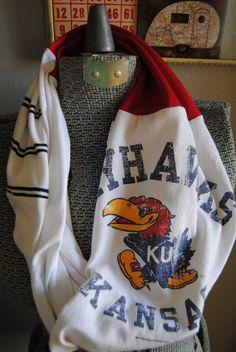 University of Kansas Jayhawks Upcycled TShirt by SeasonedWithStyle, $14.00