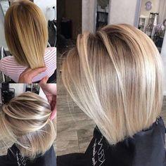 79 short bob hairstyles for the modern woman - Hairstyles Trends Medium Hair Styles, Short Hair Styles, Medium Fine Hair, Bob Hairstyles For Fine Hair, Medium Bob Hairstyles, Hair Affair, Hair Highlights, Balayage Hair, Hair Lengths