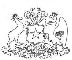 Escudo Nacional de Chile para colorear Loki, Quilling, Homeschool, Scrapbook, Lettering, Education, Crafts, Ideas, Teaching Supplies
