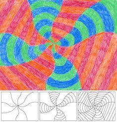 Swirls in classroom | Classroom Ideas / Art Projects for Kids: Op Art Swirl