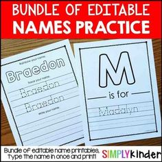 Names - Editable Names Bundle - Names ActivitiesEditable Names Bundle - (Growing Bundle)Included in this download is:This is a growing bundle of the Simply Kinder Editable Names Units that will be created.  As more units are added, the price will go up.