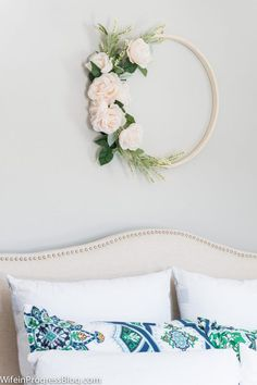 Spring wreath ideas | beautiful spring flower wreath in 20 minutes