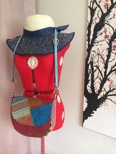 Sac Musette en patchwork cousu par Clementine - Patron Sacôtin