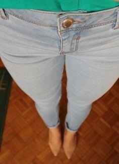 Kup mój przedmiot na #Vinted http://www.vinted.pl/damska-odziez/rurki/8292431-spodnie-rurki-z-podwyzszonym-stanem-jasnoniebieski-wiosna