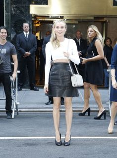 Best Dressed: Fashion Month Edition: Diane Kruger at Calvin Klein Collection