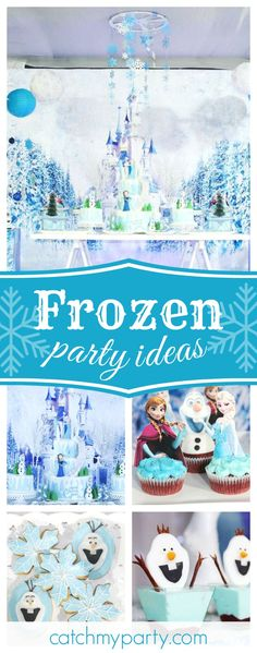 Don't miss this amazing Frozen birthday party. The birthday cake is stunning!! See more party ideas and share yours at CatchMyParty.com #frozen #princess