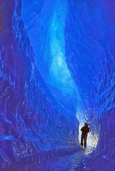 The Blue Tunnel, Queen Maud Land, Antarctica