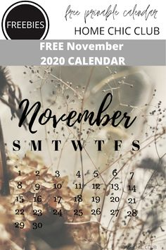 November 2020 Free Printable Calendar   Home Chic Club: November 2020 Free Printable Calendar Calendar Home, Free Printable Calendar, Printable Planner, Free Printables, Happy November, Free Planner, Fitness Planner, Love Is Free, Planner Inserts