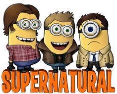 I NEED A T-SHIRT LIKE THIS........!!!!!!!!!!!!  #Supernatural #Minions
