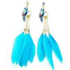Blue Charming Angel WingEarrings