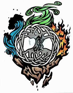 elemental triskelion tattoo - Google Search