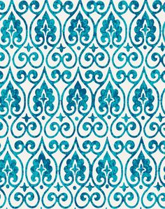 """- Horizontal motif Moroccan-style. - Linen. 44"""" wide. - Repeat : 5.85"""" w. x 8.4""""h. - Printed in USA. - Available in a maximum of 5 yard length pieces. Kindly allow 7-10 business days for delivery."""
