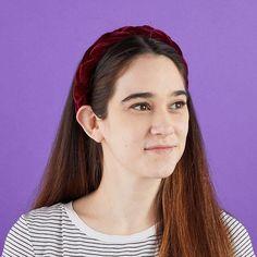 Velvet Headbands for Women, Padded Braid Hair Accessories (4 Colors, 4 Pack)