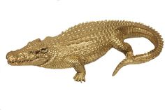 Gold Alligator from Katie Kime / I need more gold gators in my life!