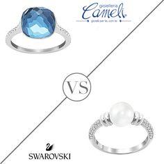 Oggi ti senti...elegante come una perla o frizzante come il cristallo colorato? Raccontacelo in un commento e scegli il tuo anello del cuore di #Swarovsky  Vieni a provarli tutti in negozio, uno spettacolo da indossare e guardare! #Cameli #MonteUrano #anelli #perle #gioielli #madeinitaly